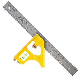 "Stanley 2-46-028 Die Cast Combination Square 300mm/12"" STA246028"