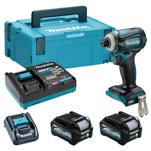"Makita TW004GD203 40V Max XGT Brushless 1/2"" Impact Wrench Kit with 2 x 2.5Ah Battery & Charger in Case"