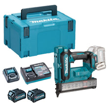 Load image into Gallery viewer, Makita FN001GD201 40V Max Brad Nailer 18Ga with 2 x 2.5Ah Battery Charger & Type 3 Case