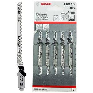 Bosch 2608630031 Jigsaw Blades For Wood Clean Cut T101AO Pack of 5