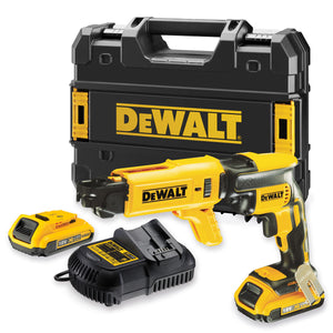 Dewalt DCF620D2K 18V Brushless Collated Drywall Screwdriver with 2 x 2.0Ah Batteries & Charger In Case