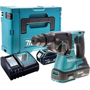 Makita DHR242Z 18V SDS+ Brushless Hammer Drill with 2 x 5.0Ah Batteries & Charger in Case