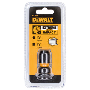 DeWalt DT7508 1/2in Drive to 1/4in Hex Impact Adaptor