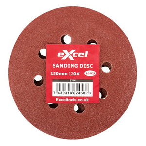 Excel Sanding Disc 150mm 120G Pack Of 10