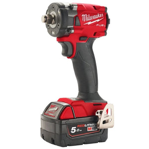 "Milwaukee M18FIW2F12-502X 18V Fuel 1/2"" Compact Impact Wrench with Friction Ring Kit"