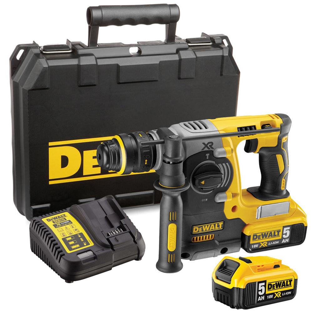 Dewalt DCH273P2 Rotary Hammer Drill Brushless SDS+ 18V 2 x 5.0Ah Batteries Charger