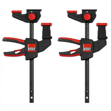Load image into Gallery viewer, Bessey EZR15-6 One-Handed Guide Rail Clamp Twin Pack 2 x 6""