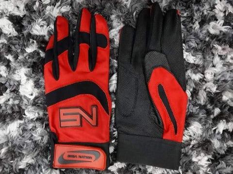 Shea Nation Batting Gloves Red/Black
