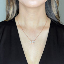 Load image into Gallery viewer, Eternal Love Cubic Zirconia Necklace - Rose Gold Metal