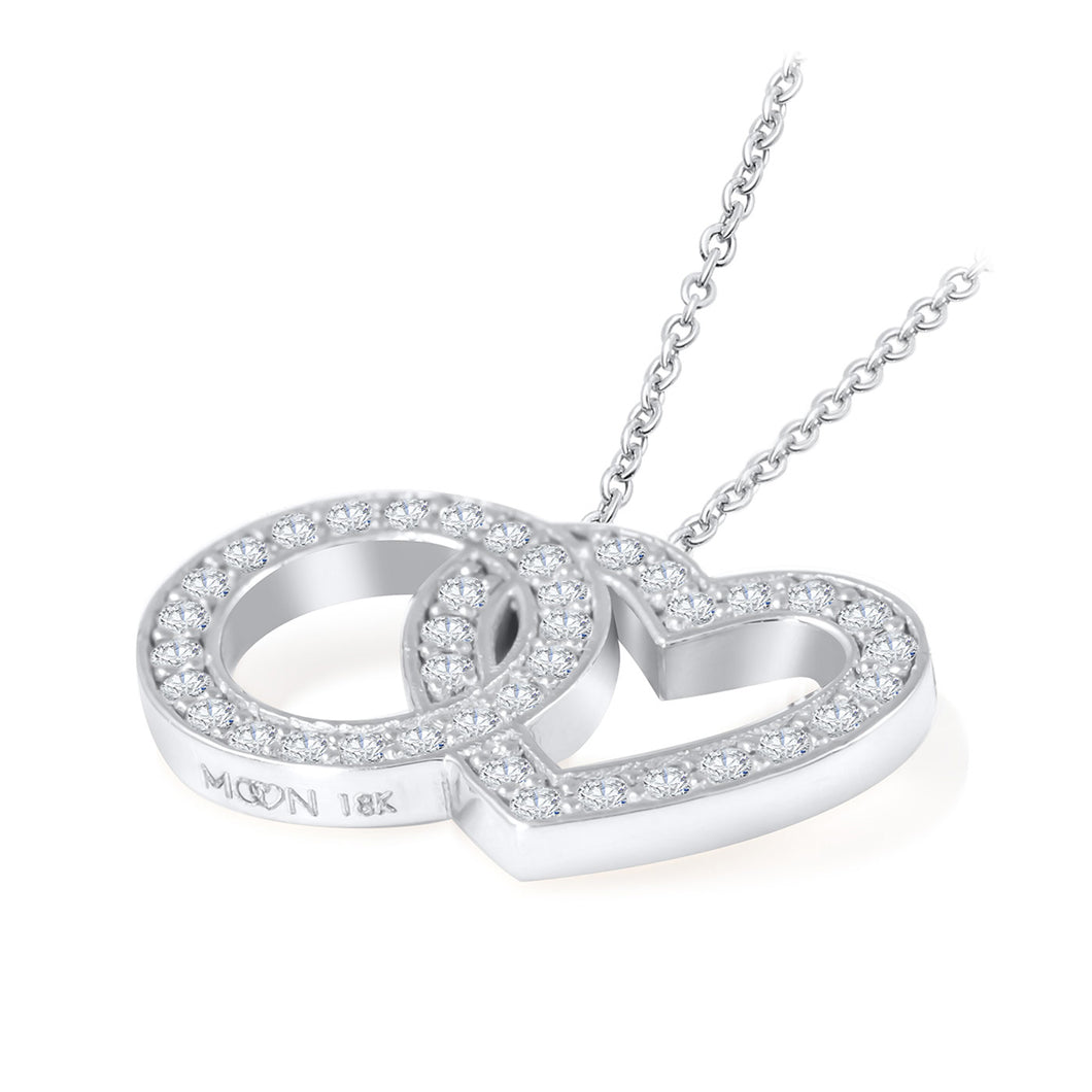 Eternal Love Necklace - Diamond & 18K Gold