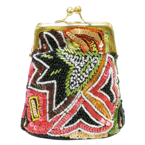 David Jeffery Coin Bag - Multicolor Sequins & Beads