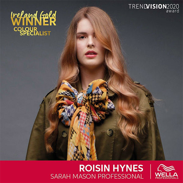 Roisin Hynes wins Gold in the Wella Trendvision Colour Specialist category 2020
