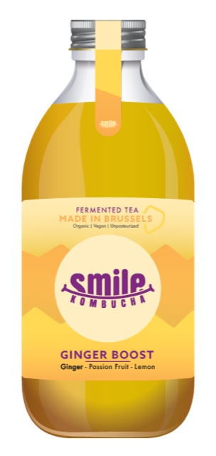 Smile Kombucha Ginger Boost 33cl
