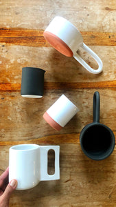 Terra Cotta Hairpin Mug