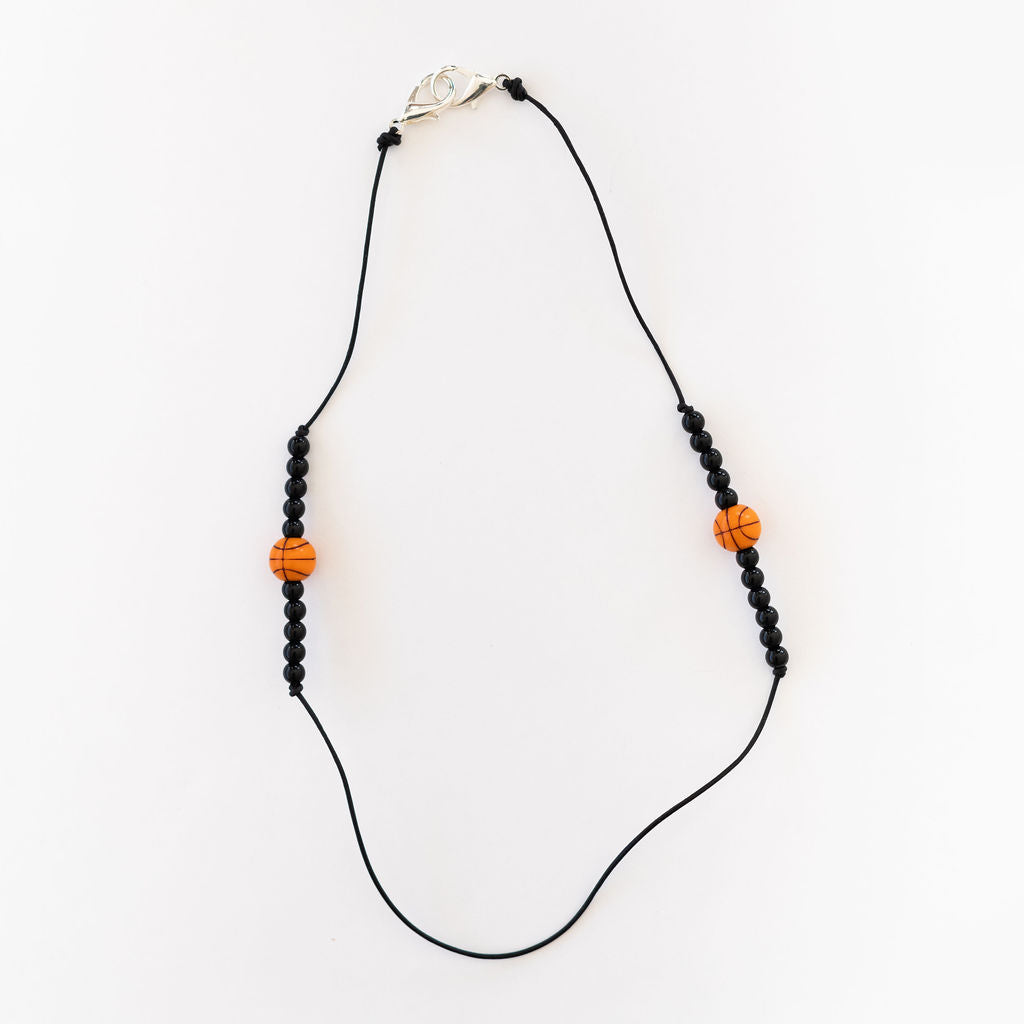 Basketball leather lanyard or necklace
