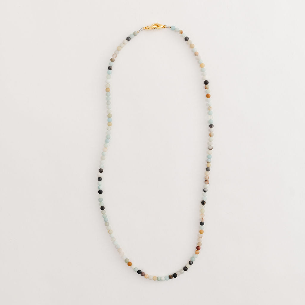 BOHO petite bead agate lanyard or necklace
