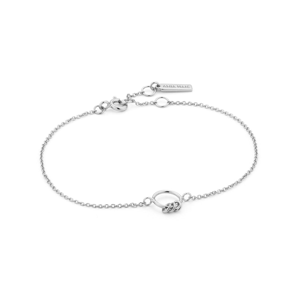 Load image into Gallery viewer, Silver Modern Circle Bracelet