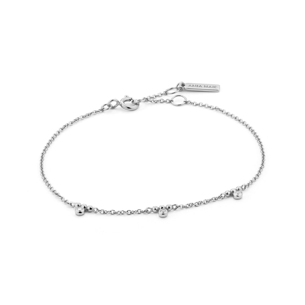 Load image into Gallery viewer, Silver Shimmer Triple Stud Bracelet