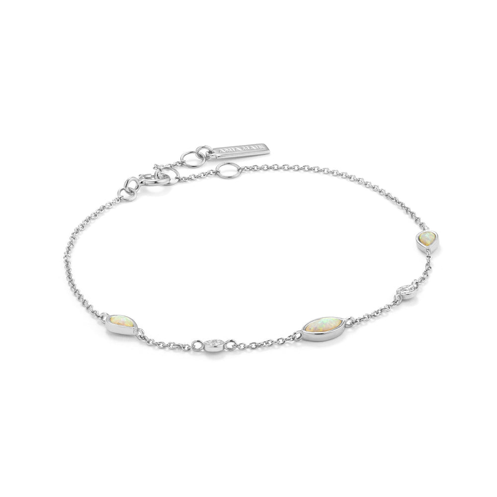 Load image into Gallery viewer, Opal Color Silver Bracelet