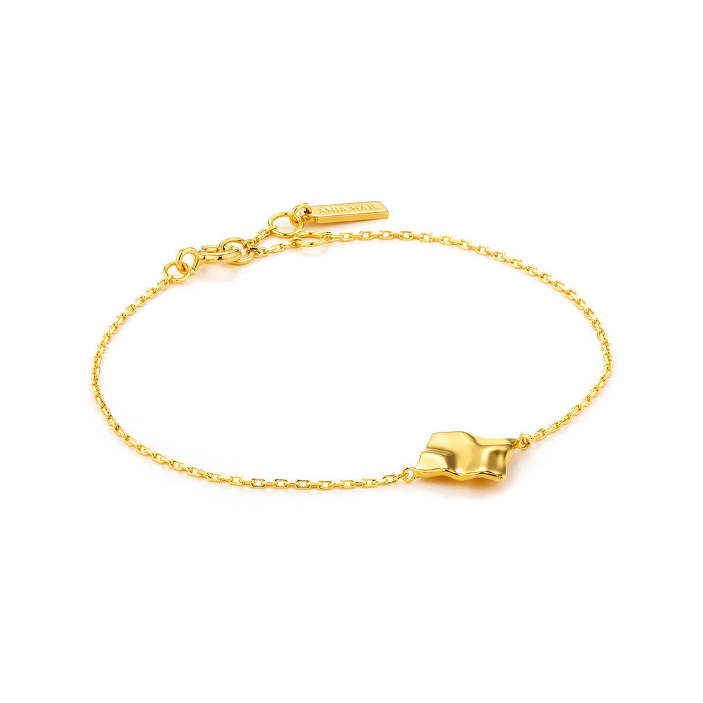 Gold Crush Square Bracelet