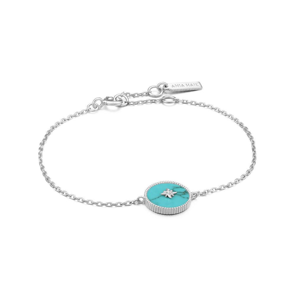 Load image into Gallery viewer, Silver Turquoise Emblem Bracelet