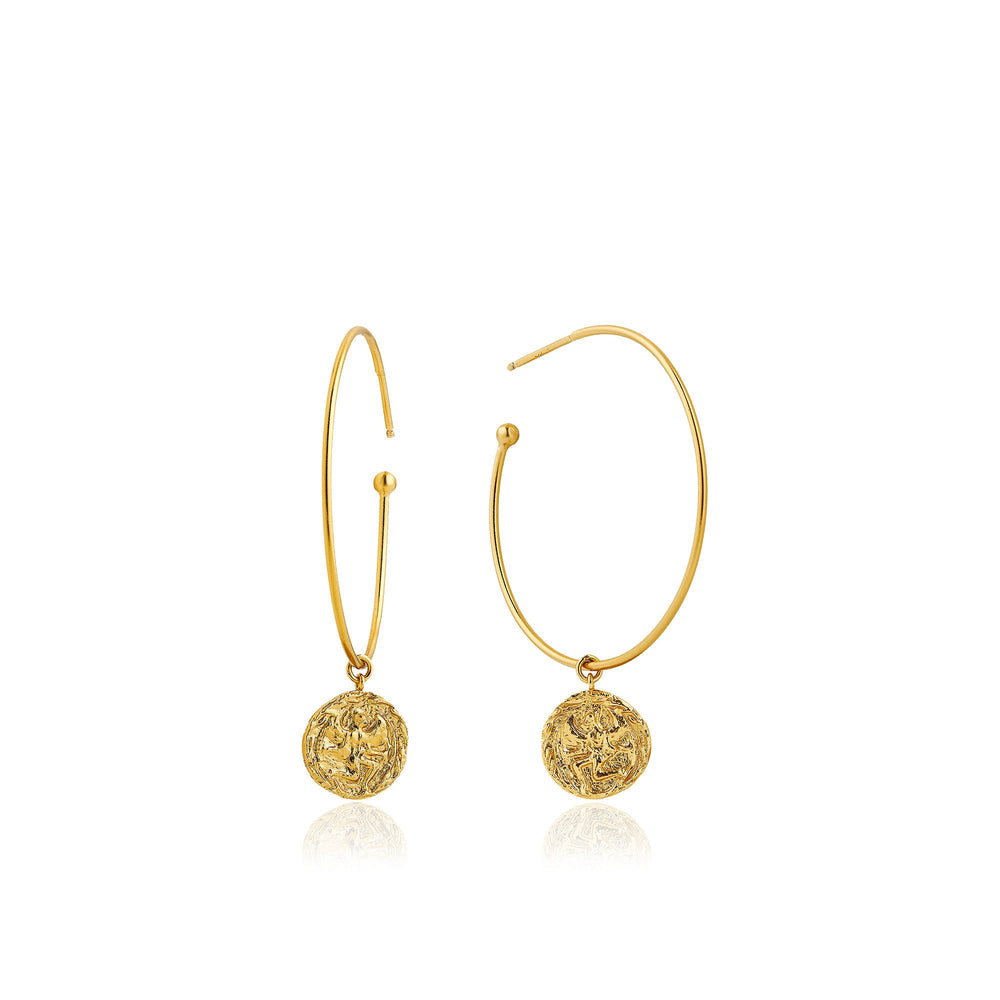 Gold Boreas Hoop Earrings