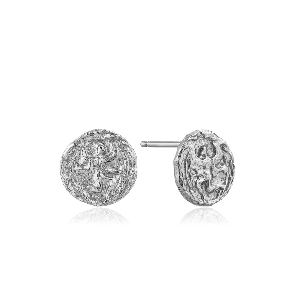 Silver Boreas Stud Earrings