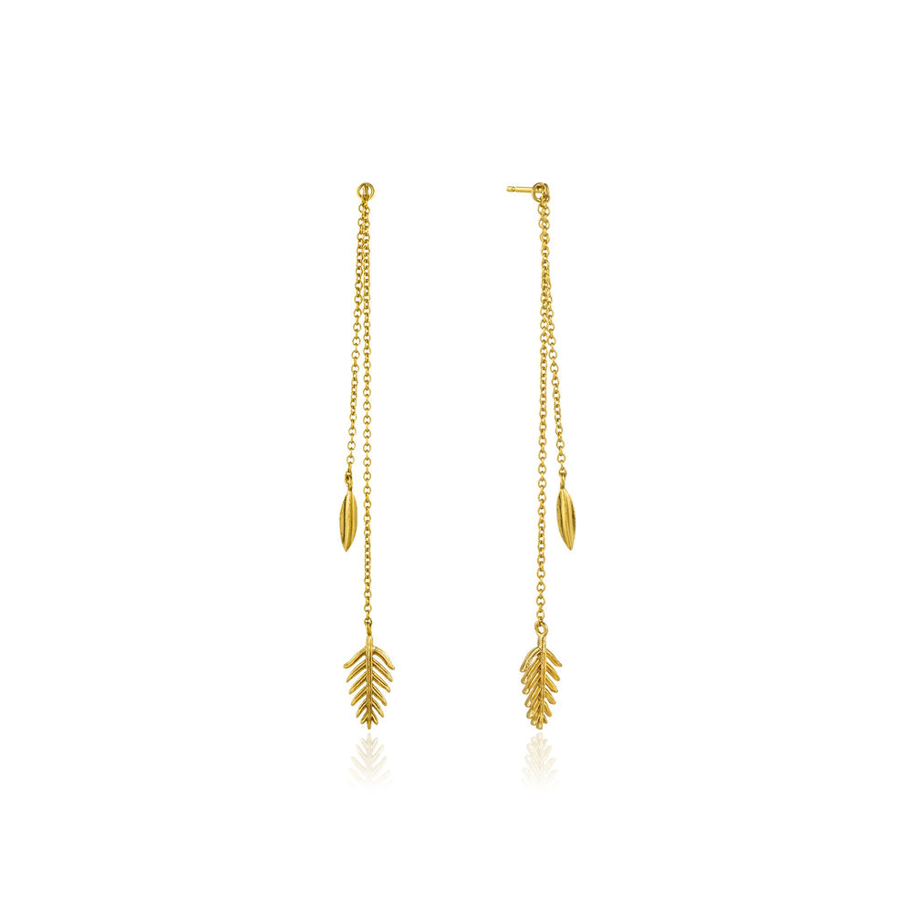 Load image into Gallery viewer, Gold Tropic Drop Earrings