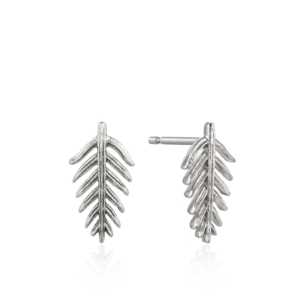 Load image into Gallery viewer, Silver Palm Stud Earrings