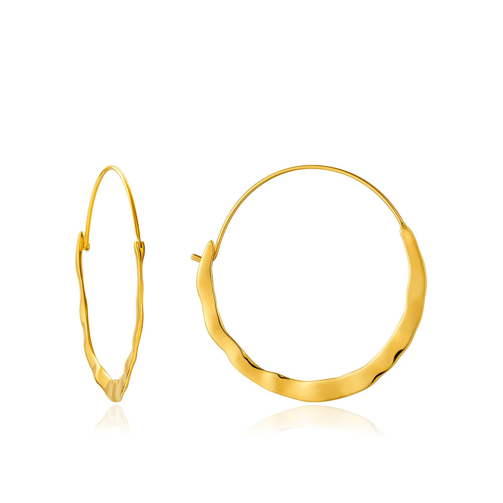 Gold Crush Hoop Earrings