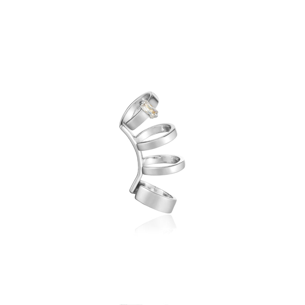 Load image into Gallery viewer, Silver Glow Crawler Ear Cuff