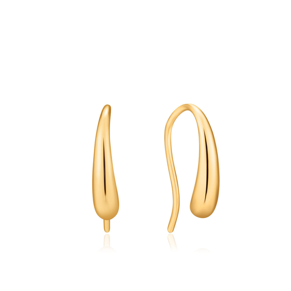 Load image into Gallery viewer, Gold Luxe Hook Earrings