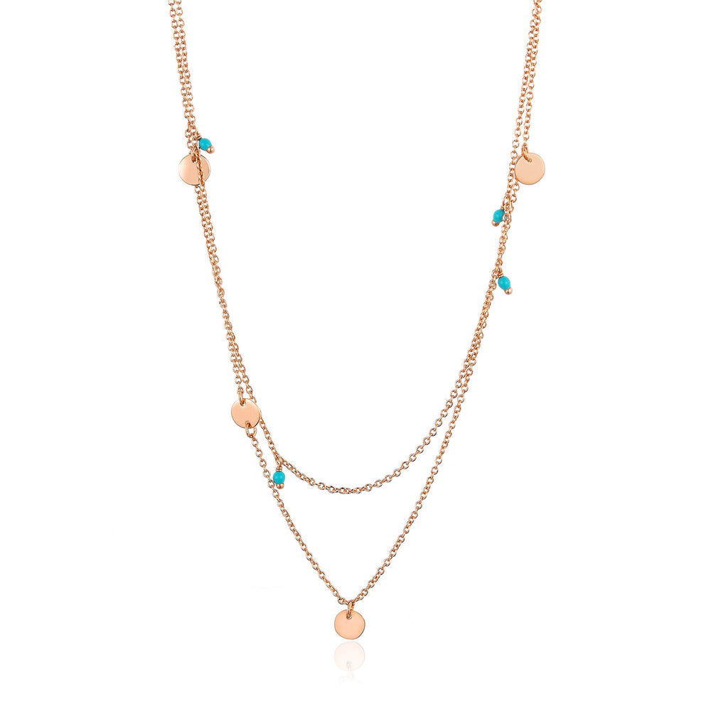 Load image into Gallery viewer, Rose Gold Dotted Double Necklace