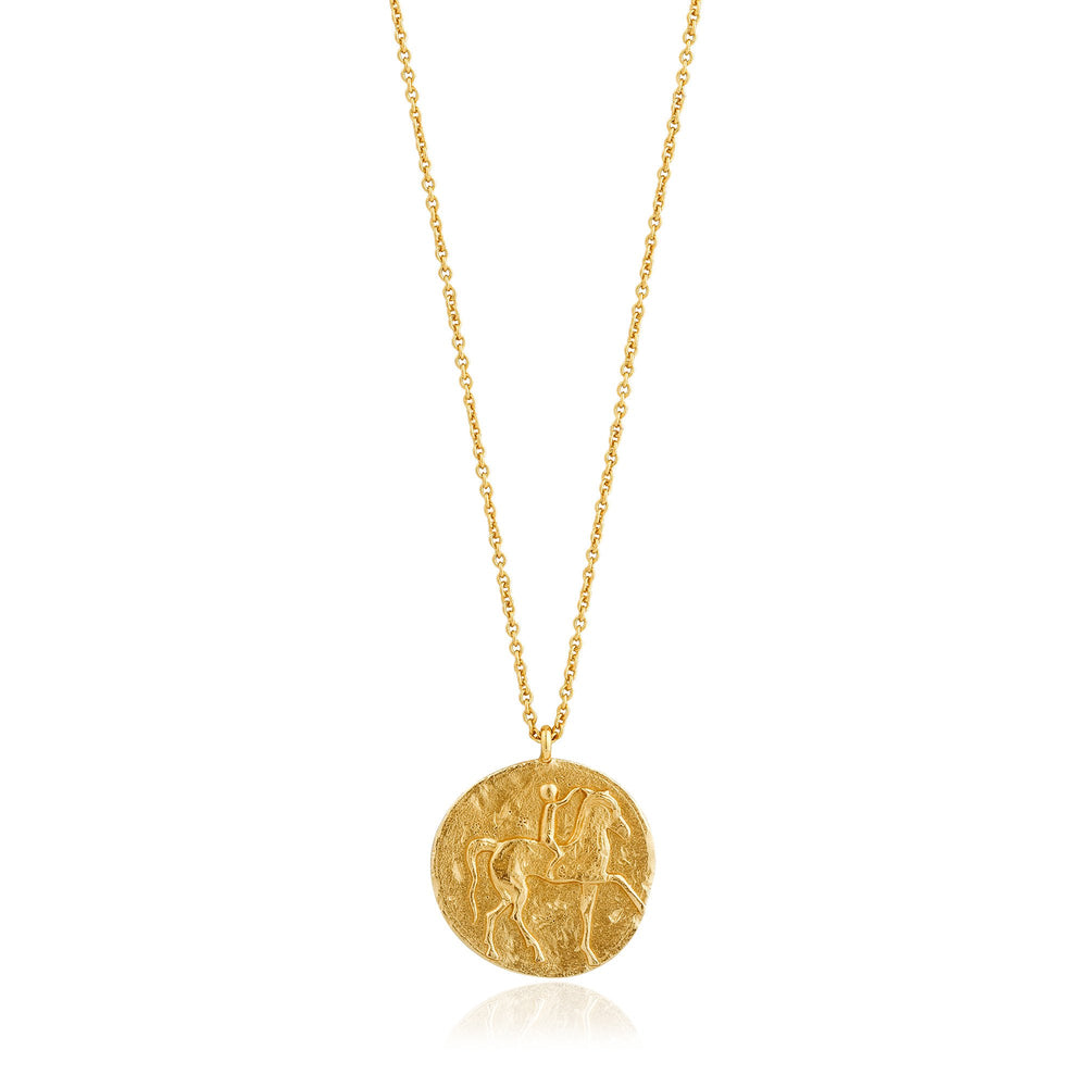 Gold Roman Rider Necklace