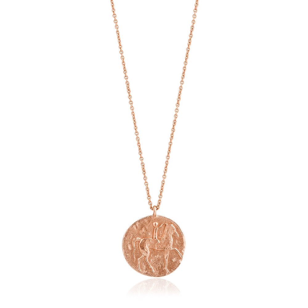 Rose Gold Roman Rider Necklace