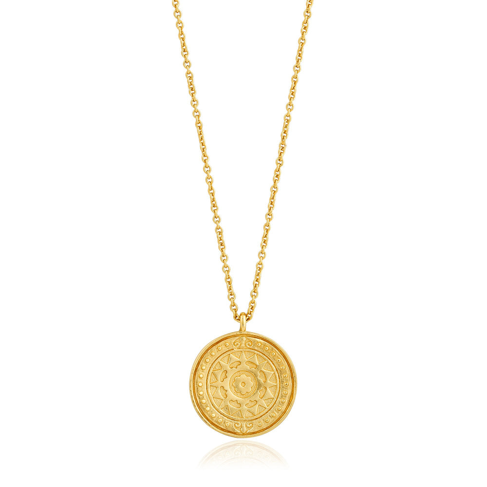 Gold Verginia Sun Necklace