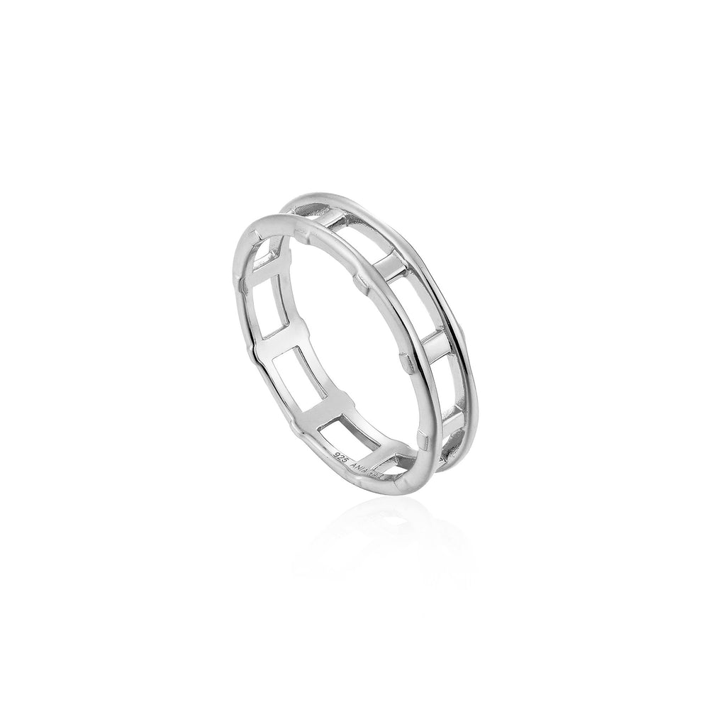 Load image into Gallery viewer, Silver Modern Bar Ring