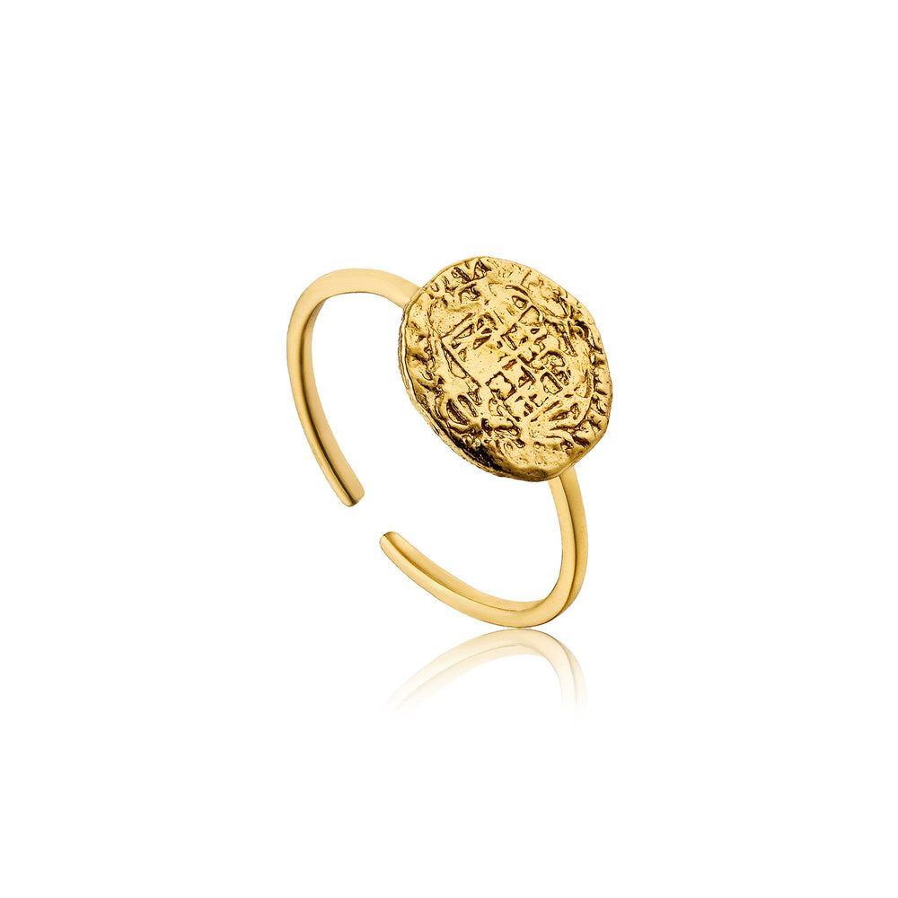 Gold Emblem Adjustable Ring