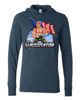 The Vaccinator - Navy T-shirt Hoodie (pre-order only)