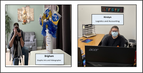 Brigham and Kirstyn Staff Members Around the Clock Gifts