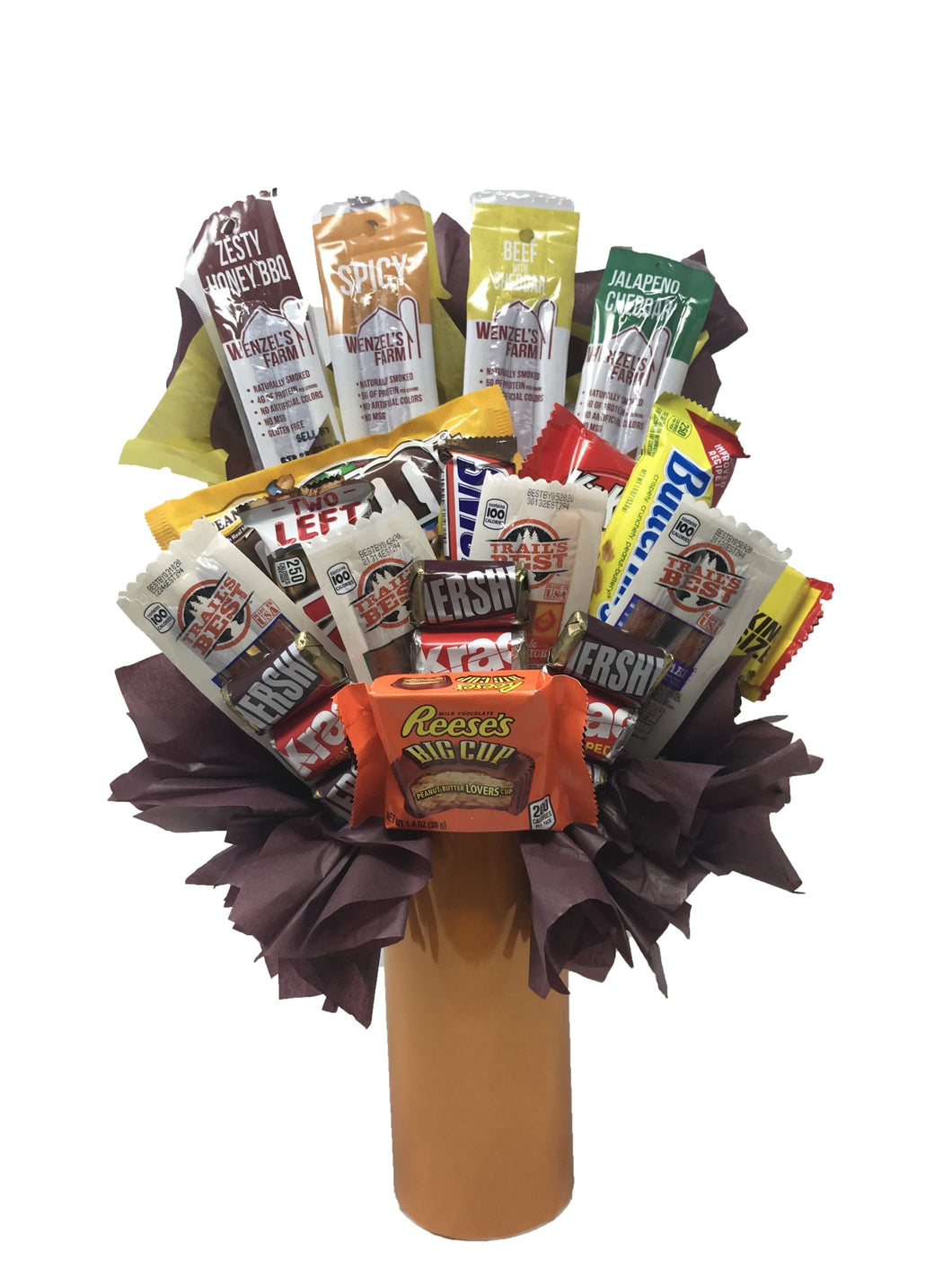 555699 V Beef Jerky Candy Bouquet  scaled