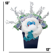 Load image into Gallery viewer, Abominable Snowman Candy Bouquet Dimensions