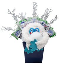 Load image into Gallery viewer, Abominable Snowman Candy Bouquet Front