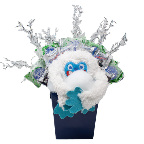 Abominable Snowman Candy Bouquet Front