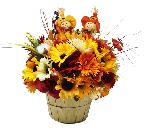 Apple Picking Scarecrow Bouquet Front view