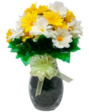 Load image into Gallery viewer, Artificial Yellow and Cream Silk Daisy Bouquet