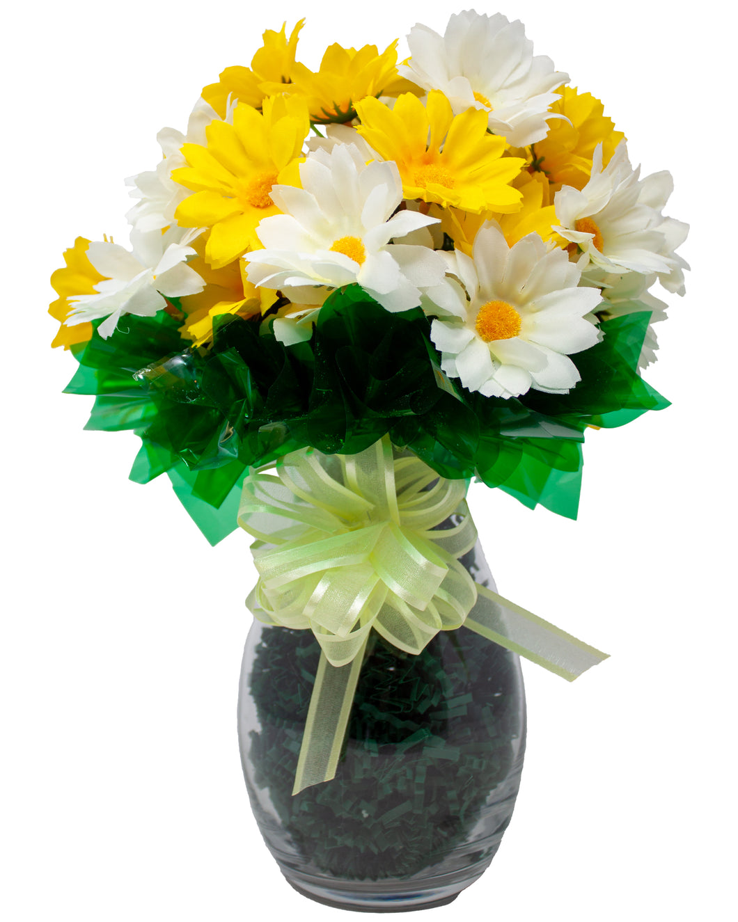 Artificial Yellow and Cream Silk Daisy Bouquet