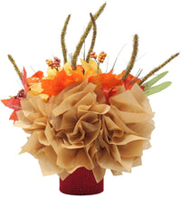 Load image into Gallery viewer, Fall Themed Chocolate Reese's Candy Bouquet back view