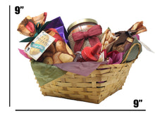 Load image into Gallery viewer, Autumn Inspired Idaho Specialty Food Basket Dimensions