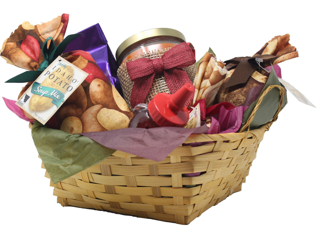 Autumn Inspired Idaho Specialty Food Basket Front